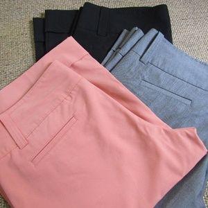 3- GG Blue Peach Gray Black Wide Leg Capri 12